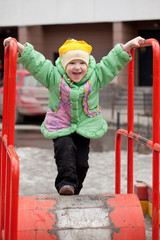 A child playing at the playground