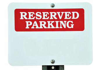 Blank Reserved Parking Sign