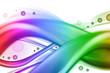 Abstract Rainbow Swirl Wave Background