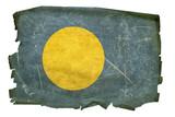 Palau Flag old, isolated on white background. poster