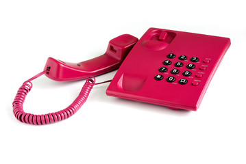 Pink office phone