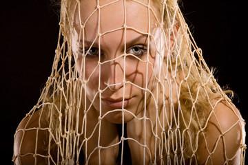 Girl in net