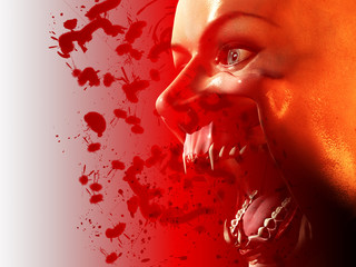 Bloody Vampire Mouth