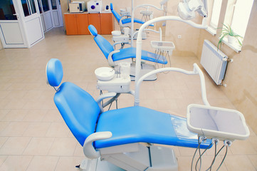 Interior of a dental clinic,dental chairs