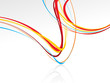 abstract curved wave colorful lines background with the empty sp