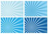 blue burst rays background, eps10 format, poster