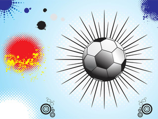 isolated soccer football with grunge background