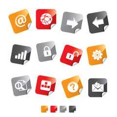 icon set sticker web