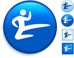 Karate Icon on Internet Button