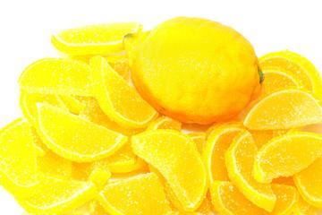 Lemons and lemon slices