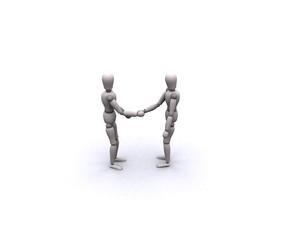 Personen Hand reichen 7