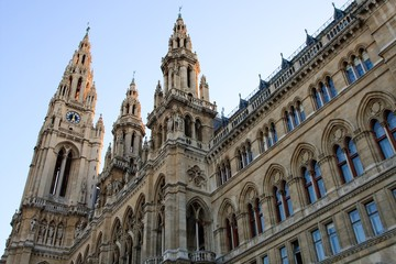 Side view of Vienna City Hall