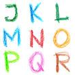 Crayon alphabet, Lettrs J - R