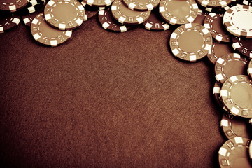 Gambling chips - grunge styled