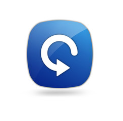 Rückgängig Button Blau
