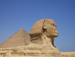 sphinx from giza and Pyramid