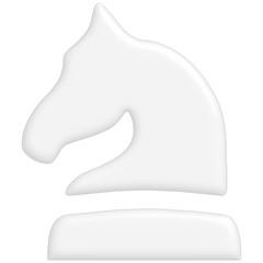 Schach Figur Pferd weiss