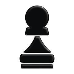 Schach Figur Bauer schwarz