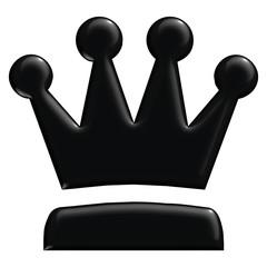 Schach Figur Dame schwarz