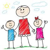 Fototapety Doodle family