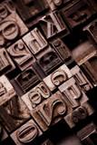 Typographic font poster