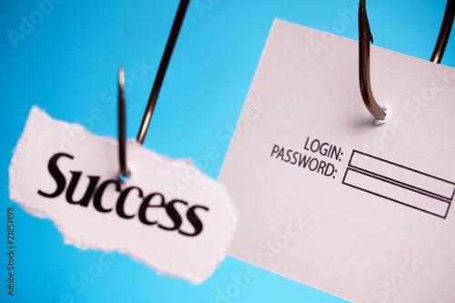 poster of success login password