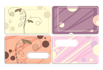 set of cute business cards