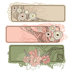 horizontal floral banners