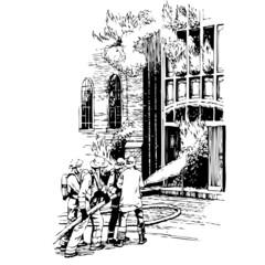 pompier, illustration