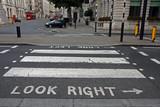 Pedestrian zebra crossing in London