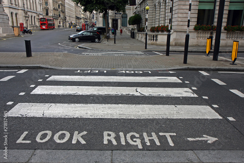 Pedestrian zebra crossing in London - 21857445