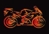Fototapety Motorcycle Silhouette Set 1