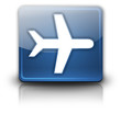 "Glossy Square Button ""Airport / Airplane"""