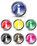 Information Button poster