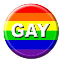 Gay rainbow flag button