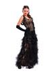 Девушка в пышном черном платье