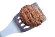 Grilled Hamburger Patty on a Spatula