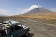 Tanzania volcano, old abandoned car, Tanzania