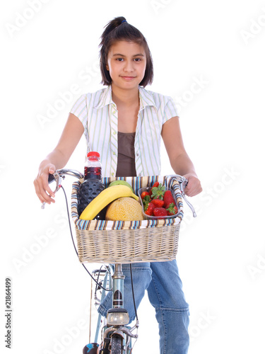 fresh food and an old bike