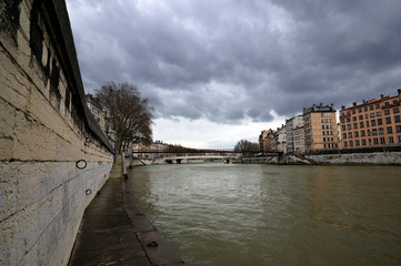 Saone river in Lyon (France)