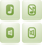 Olivine Square 2D Icons Set: Phone display poster