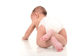 Exploring Infant Baby Boy Crawling