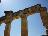 Hierapolis corinthian columns poster