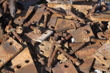 Oxidized rail junction parts
