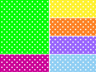 Dotted Vector Swatches in Six Spring Colors