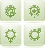 Olivine Square 2D Icons Set: Arrows poster