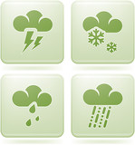 Olivine Square 2D Icons Set: Weather poster