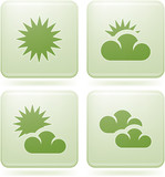 Olivine Square 2D Icons Set: Weather & Arrows poster