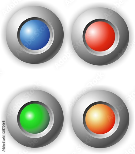 buttons clean round colorful