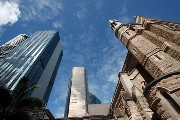 Architecture Old and New skyscrapers  of Brisbane